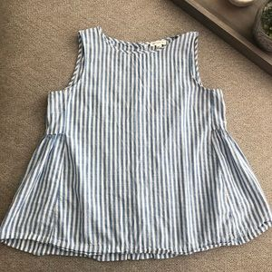 BeachLunchLounge Collection Striped Babydoll Top